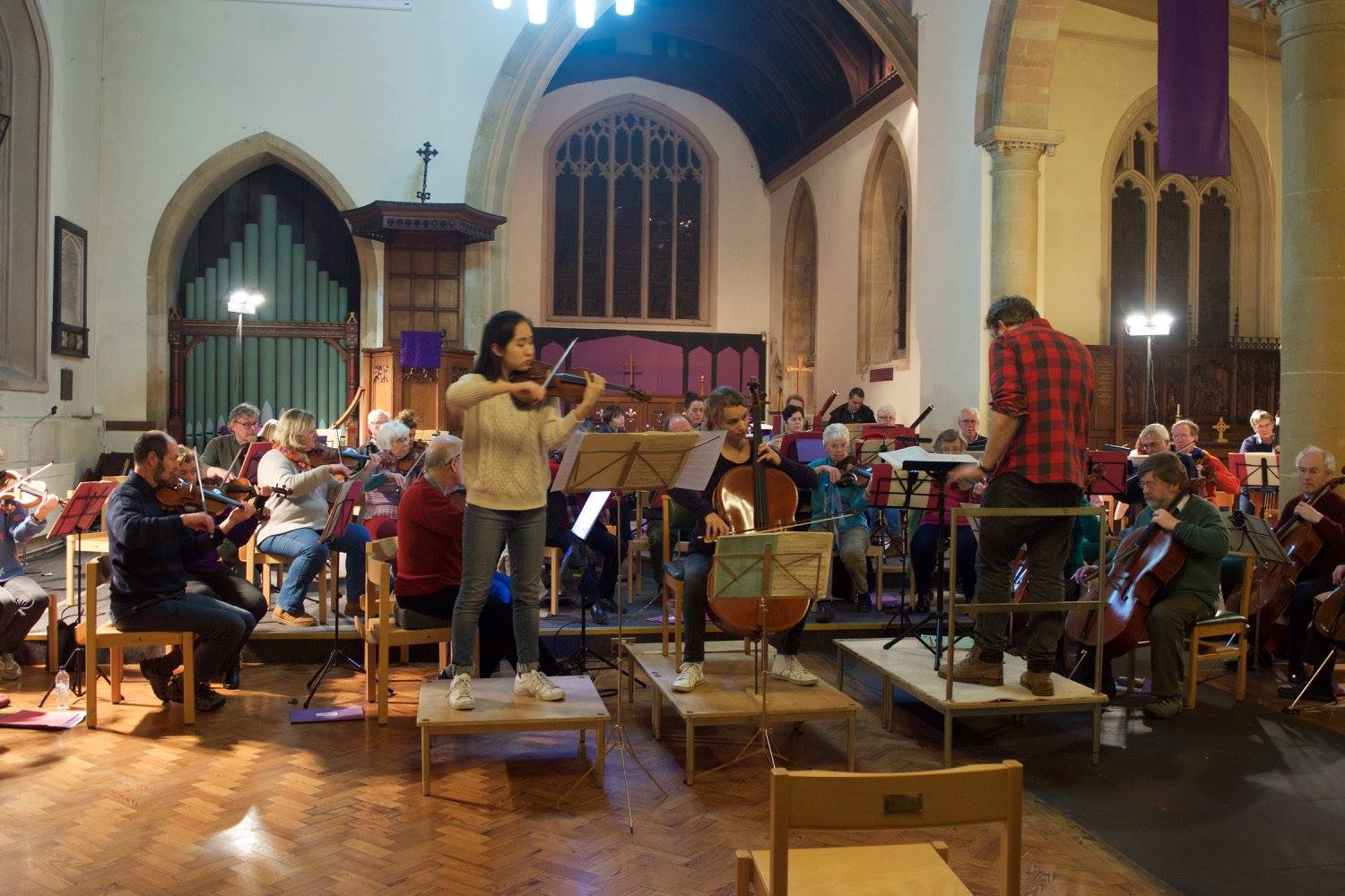 First rehearsal with the soloists